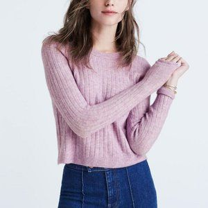 Madewell Bookend Pullover Sweater Lilac/Orchid XS